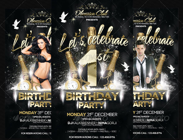 Birthday Party Flyer