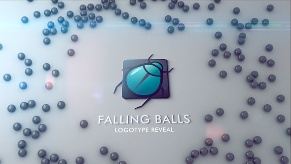Clean Falling Balls Logo Reveal