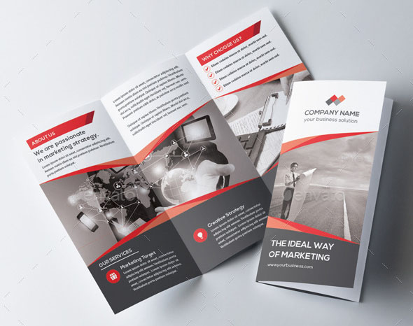 Product Brochure Template Corporate Marketing Trifold Brochure
