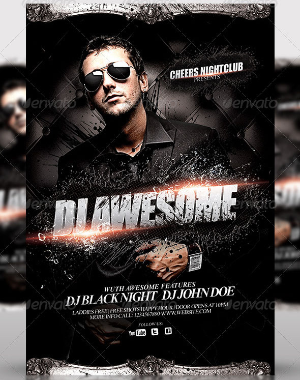 DJ or Birthday Party Flyer Template