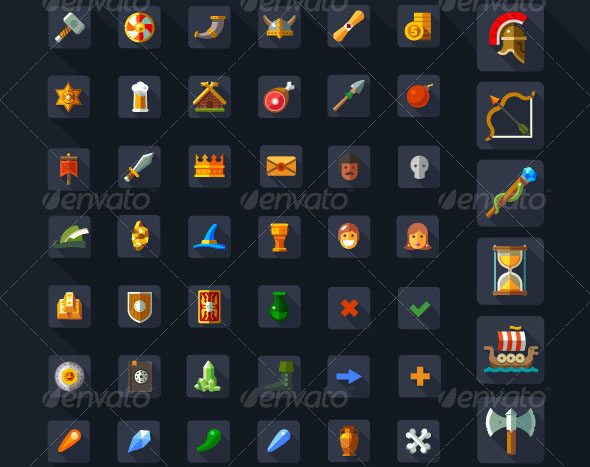 Game Icons Magic Weapons Spells
