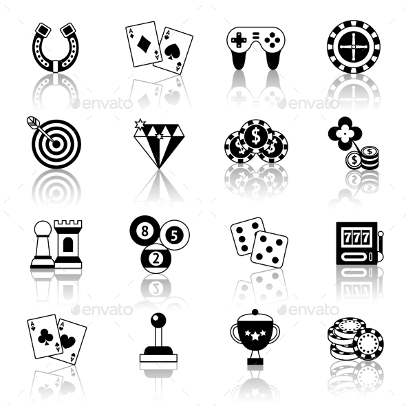 Game Icons Set blac