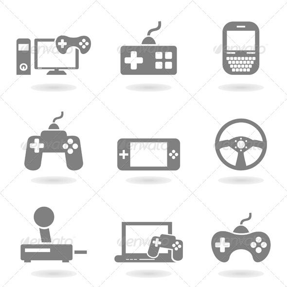 19 nice game icons sets vector psd desiznworld for Icon mobel eames
