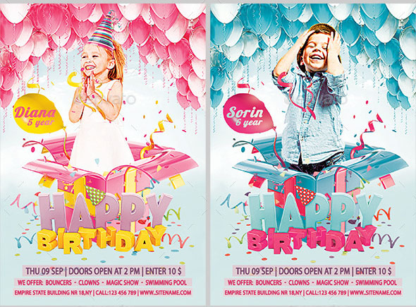 Kids Birthday Flyer