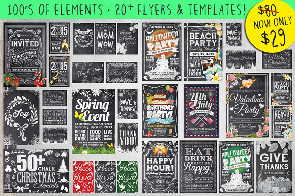 Mega Chalk Holiday Occasions Bundle