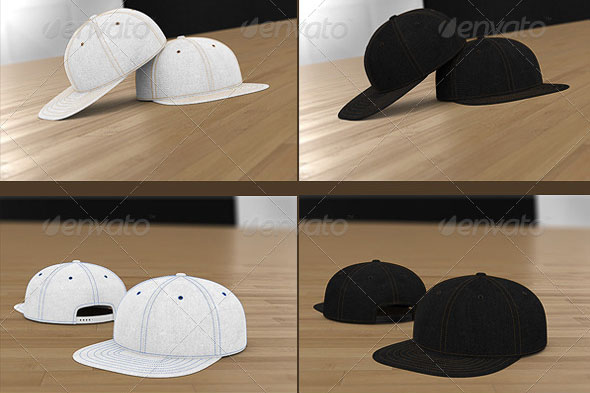Professional Baseball Cap Mock-up