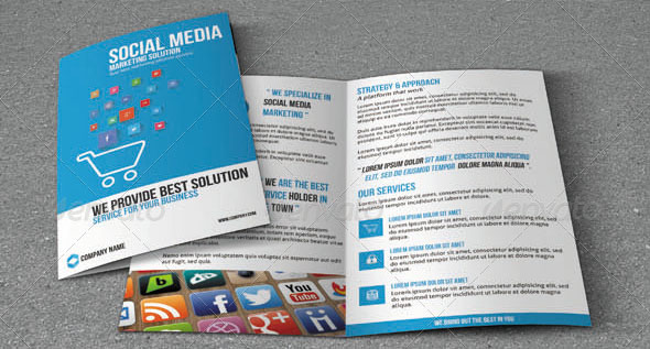 social media marketing brochure - Marketing Brochure Template