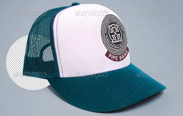 Trucker Cap Tshirt mock-up