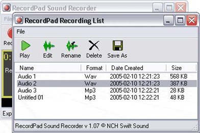 RecordPad Sound Recorder Professional
