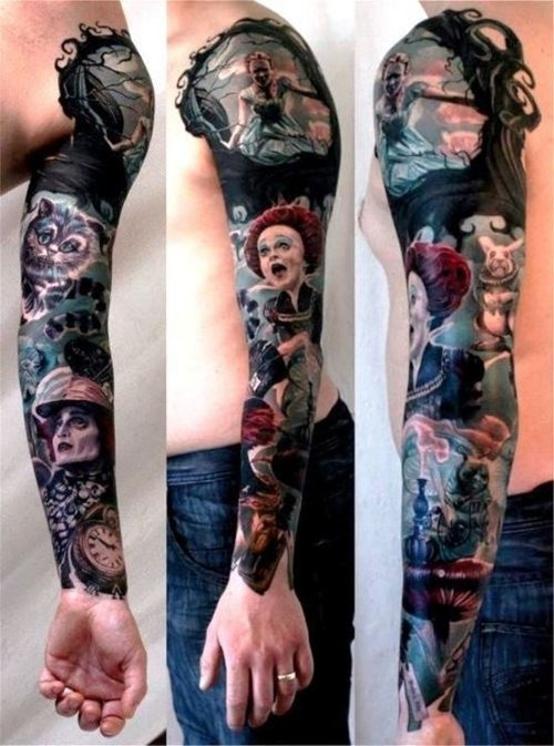 28 Nice Alice in Wonderland Tattoos – Desiznworld