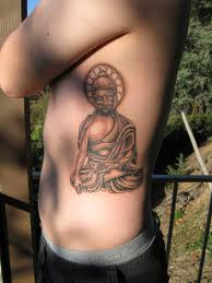 Amazing Buddha Tattoo On Rib Side