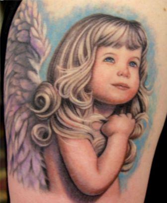 Baby Girl Tattoo On Arm For Women