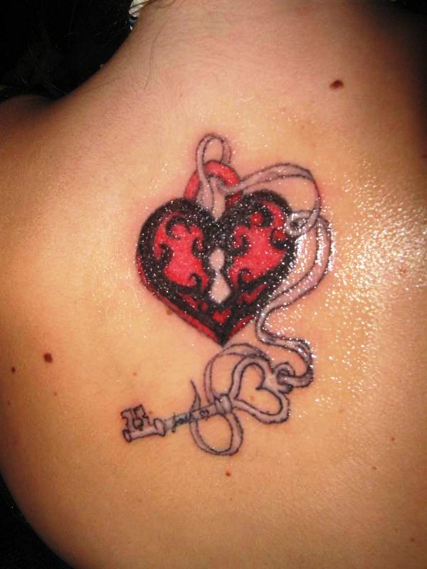 Back Lock And Key tatoo