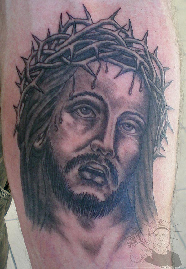 Barbed Jesus Tattoo Design