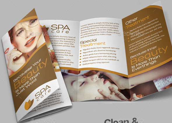 Beauty Care Spa Trifold Brochure