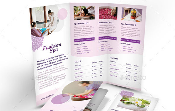 Medical Brochures Templates. Spa Beauty Centre Tri Fold Brochure