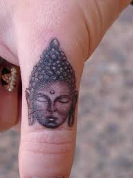 Buddha Tattoos on Finger