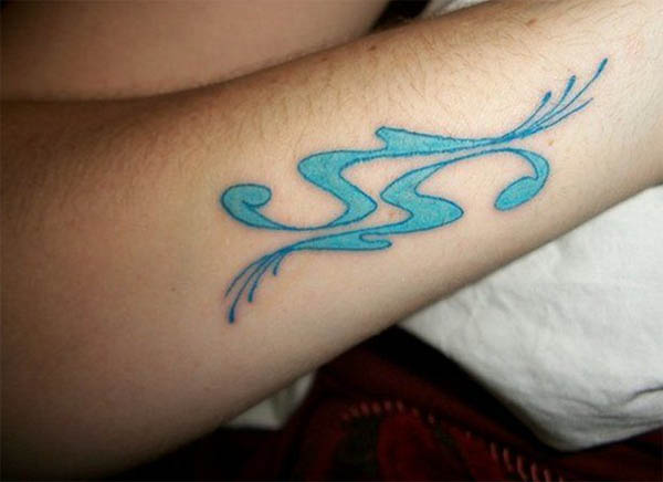 Cool Aquarius Tattoo On Hand