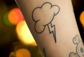Cute lightning Bolt Tattoo For Girl