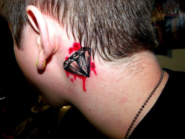 Diamond with Blood Tattoo For Men