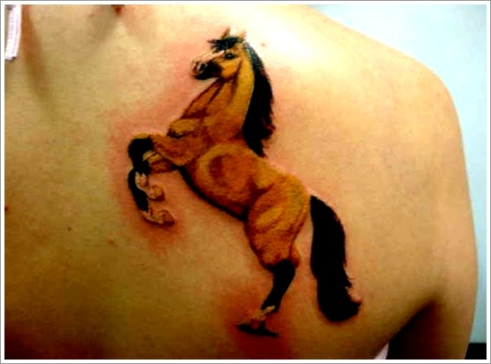 Jumping Horse Tattoo