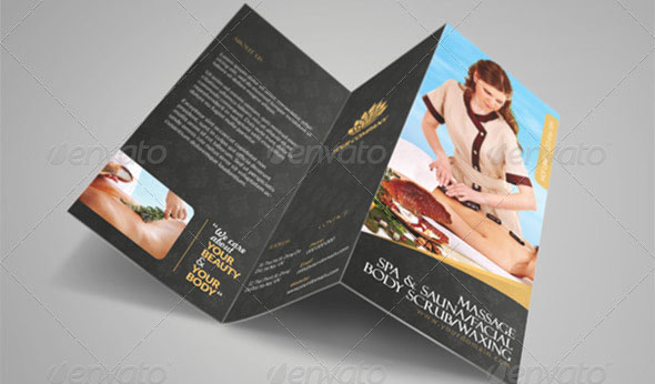 Luxury Spa Brochure Tri-fold