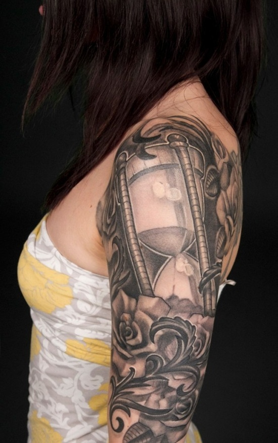 30 cool hourglass tattoos desiznworld for Time is money tattoo