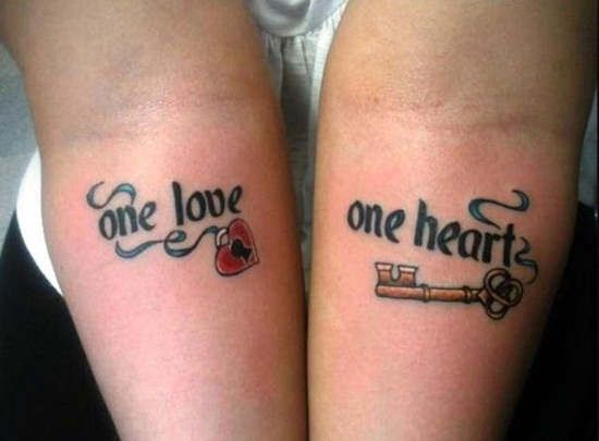 Quote key tattoo