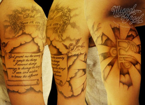32 nice cloud tattoos design desiznworld for Cross tattoos with clouds