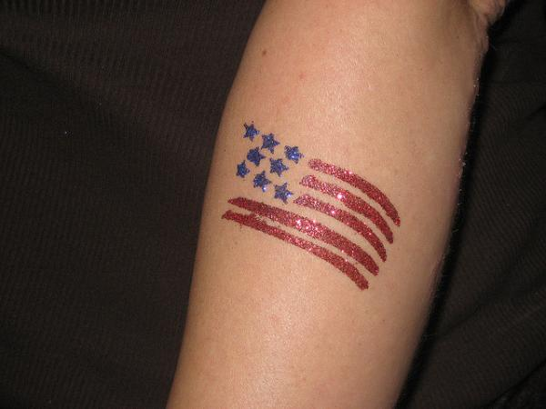 Small American Flag Tattoo