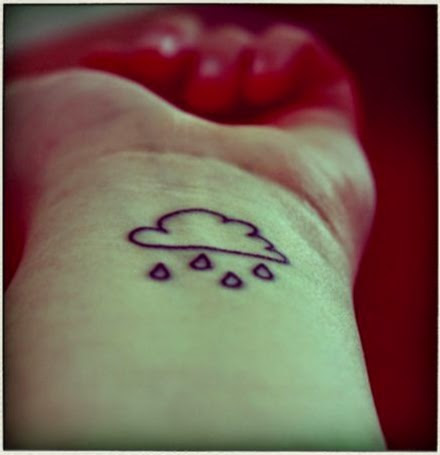 Small cute and lovely cloud tattoo design on wrist