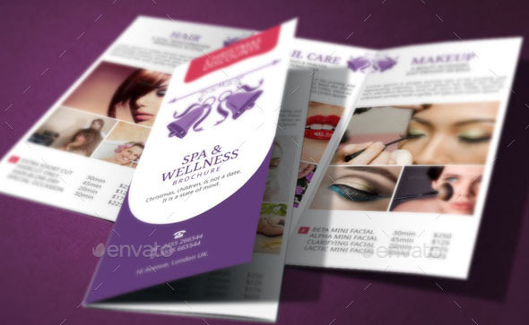 17 Cool Spa Brochure Templates PSD InDesign Desiznworld – Spa Brochure Template