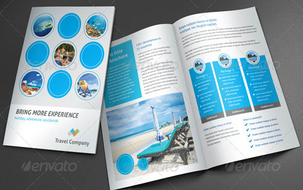 Travel Brochure Blue