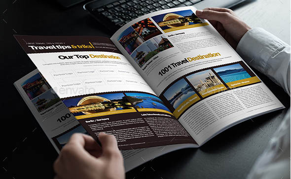 Travel Brochure Template A4 Bi-Fold