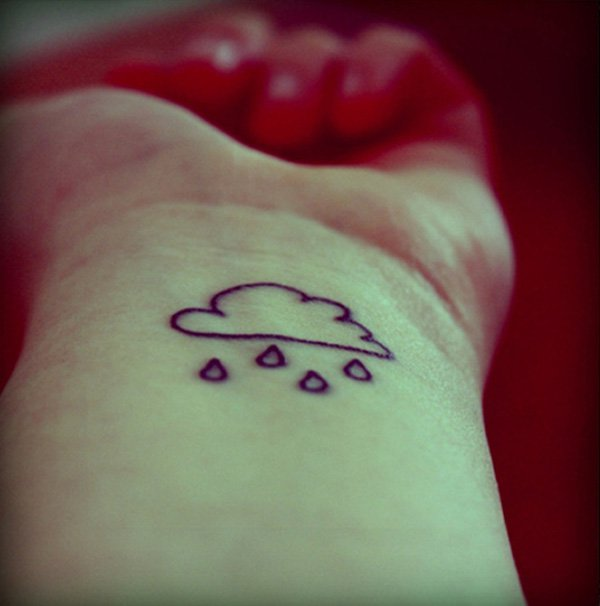 cute cloud tattoo
