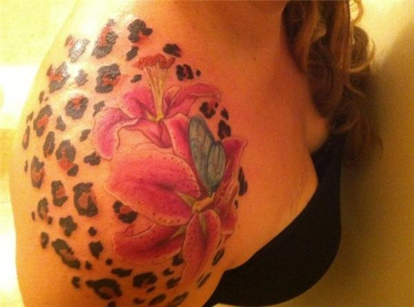 lily cheetah print tattoo