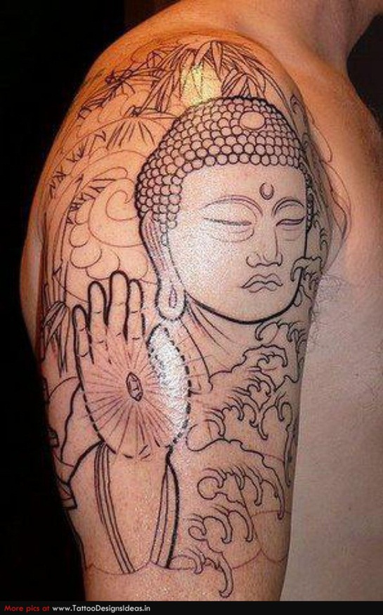 tattoo buddhism on arm