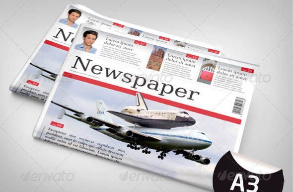 24 Pages Newspaper Template in A3 Format