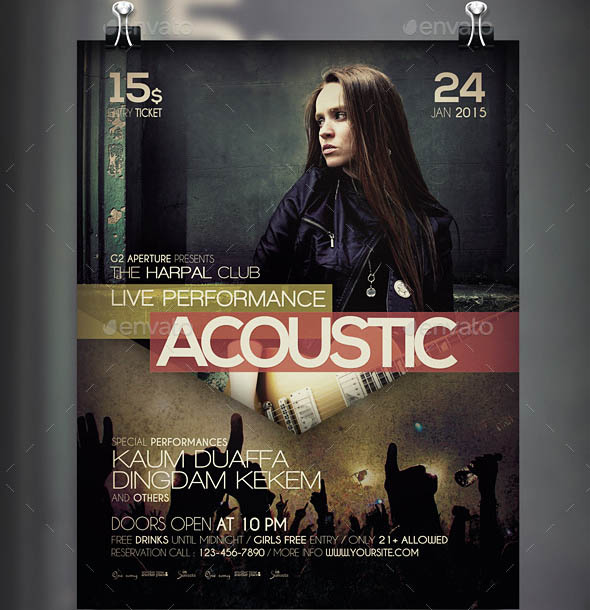 Acoustic Concert Flyer Poster Vol 5
