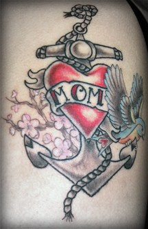 Archor Tattoo Of Mom
