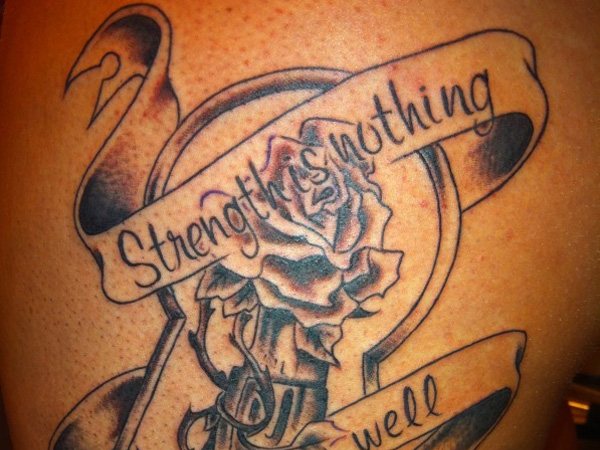 Artistic Strength tattoo