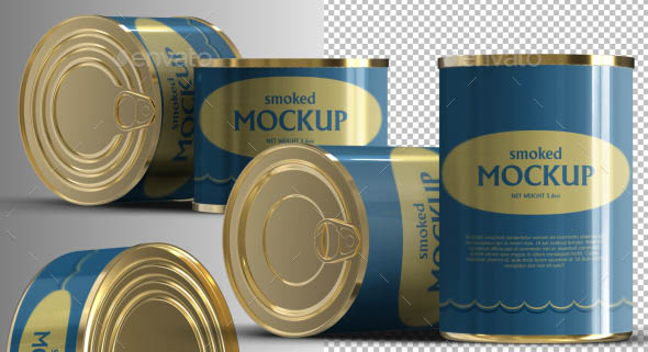 Canned Tinned Food Mockups