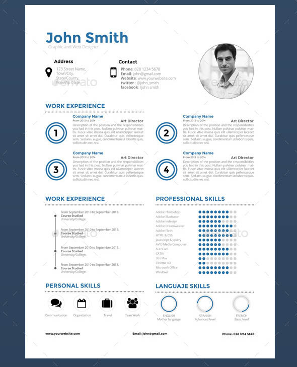 16 Great Resume InDesign Templates – Desiznworld