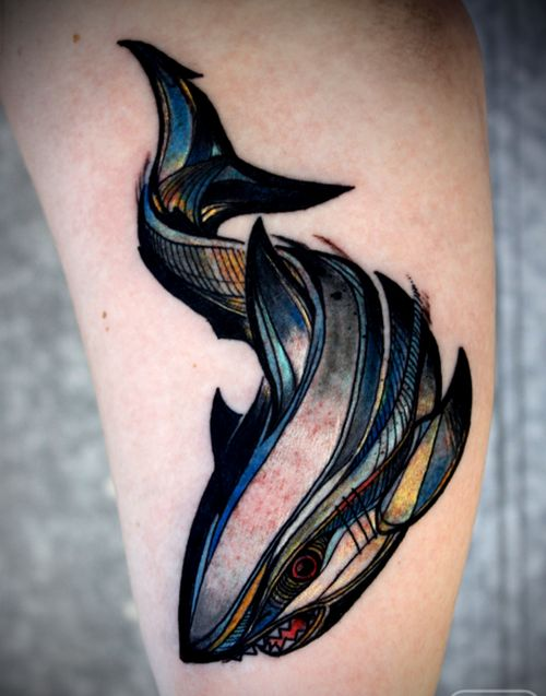 Creative Shark Tattoo