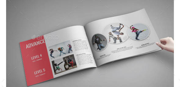 Dance School A4 InDesign Catalog Template
