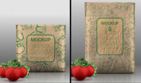 Food Product Bag Mockup