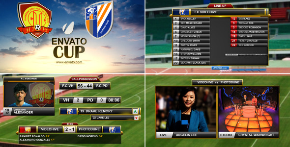 Glossy Football Complete Package Broadcast Design