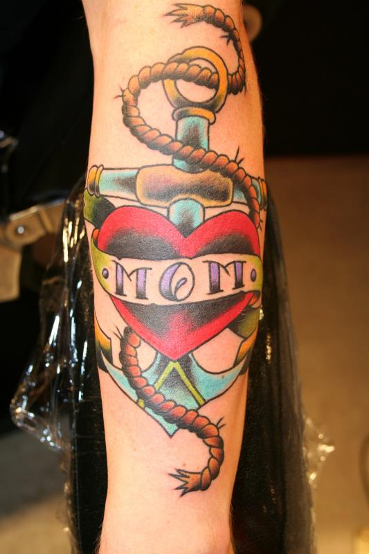 Anchor Heart Drawing Heart Mom Anchor Tattoo Design