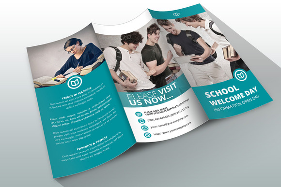 20 brochure psds for school education desiznworld for Educational brochure templates