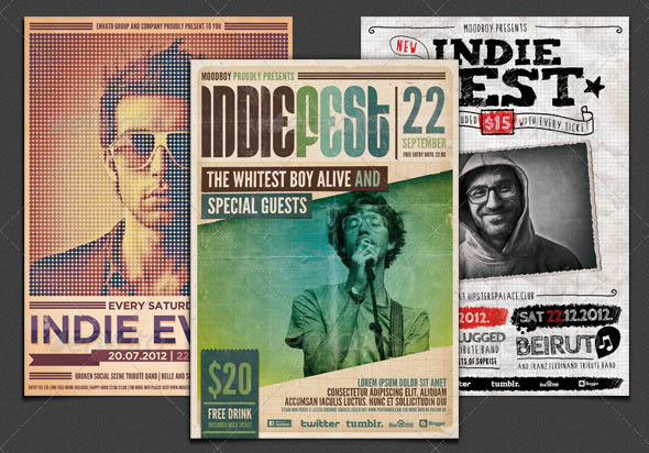 Indie Flyers Posters Bundle